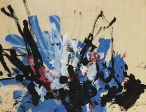 """Das 1958 vom Schimpansen """"Congo"""" gemalte Bild ist nicht Gegenstand der Urheberrechtsdebatte, da per definitionem gemeinfrei"""