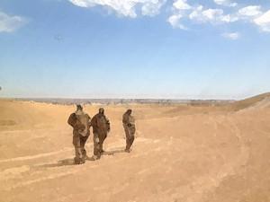 Soldaten in der Wüste