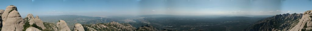 Rundum-Panorama vom Gipfel des Sant Joan