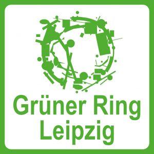 Offizielles Radwegeschild des Grünen Rings Leipzig