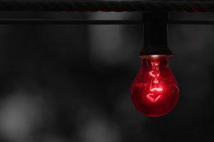 Rote Alarmlampe