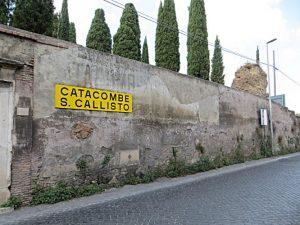 Der Zugang zur Calixtus-Katakombe von der Via Appia her (Foto: Wikimedia Commons, Mister No, CC BY 3.0)